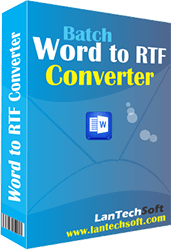 Converts DOT, DOC, DOCX and DOCM to RTF.