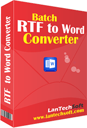 Helps convert format of multiple MS word files from RTF to DOC simultaneously.