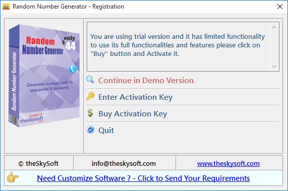 random activation key generator