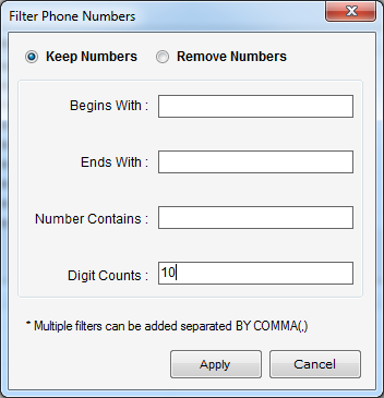Outlook Number Extractor